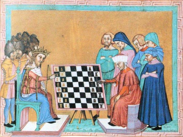 Les origines médiéval du jeu d'échecs