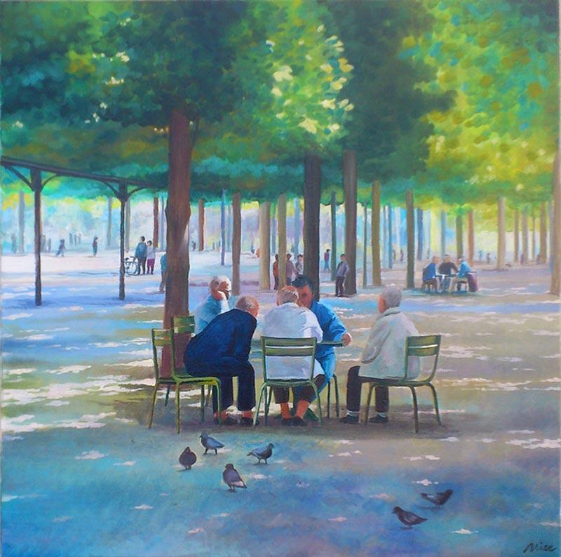 Le Jardin du Luxembourg à Paris est le lieu idéal pour une partie de jeu d'échec en plein air