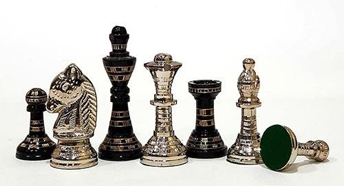 Roi, Reine, Cavalier, Fou, Tour et pion de luxe