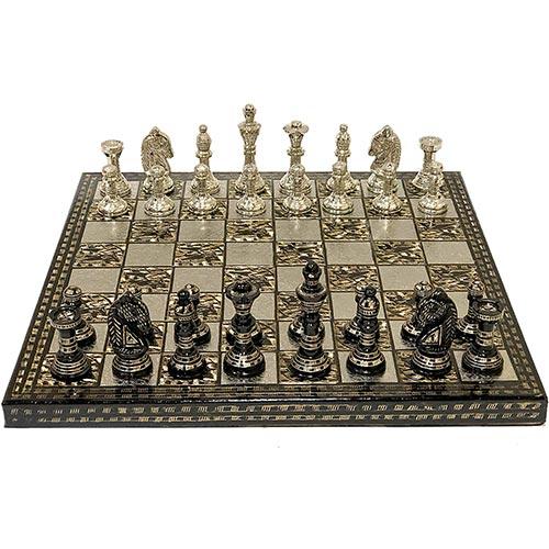 Jeu d'échecs de luxe Stonkraft avec des pièces faites à la main