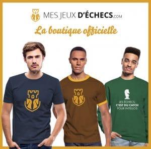 T-shits, polo, pull, casquette : découvez la boutique officielle de mes-jeux-echecs.com