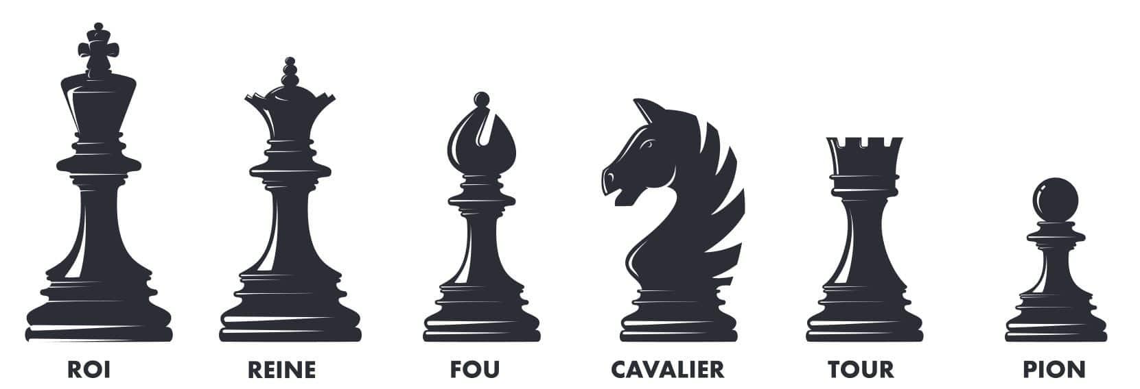 Pièces d'échecs à imprimer